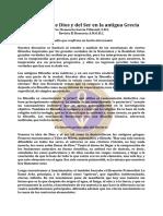 Dios y Del Ser en La Antigua Grecia, El Concepto de - Mar63 - Clemencia Garcia Villasmil, F.R.C.