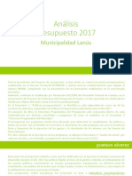Análisis Presupuesto 2017 Municipalidad de Lanús