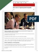 BoE's Andrew Haldane Warns of Regional Growth Inequality - BBC News