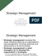 Lctr 6 Strategic Management
