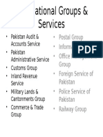 Occupational Groups & Services