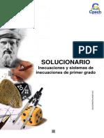 Solucionario Guía Práctica Inecuaciones y Sistemas de Inecuaciones de Primer Grado 2013