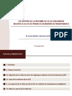 PPT_ Fouzi LEKJAA Directeur Du Budge 13 11 2014
