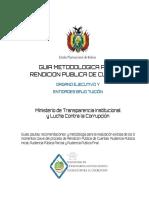Metodologia Para Rendicion de Cuentas Publicas Bolivia
