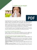 En Primavera, Cuidado Con Las Alergias.