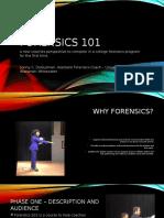 forensics 101 - instructional plan