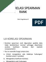 Uji Korelasi Spearman Rank