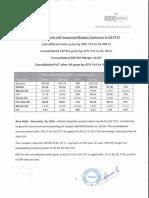 Results Press Release for September 30, 2016 [Result]