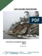 Rock Slope Rating Procedure