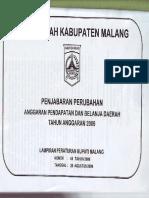 Perbup Pak Nomor 45 Tahun 2009