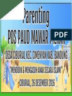 Spanduk Parenting Pos Paud Mawar Mekar