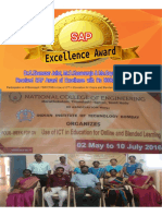 SAP Award of Excellence By IIT Bombay