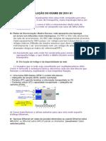Resolução do EXAME de 2014 A1