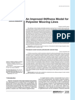 An Improved Stiffness Model for Polyester Mooring Lines