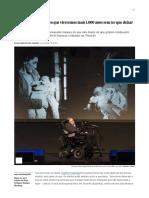 """Hawking_ """"Não Acredito Que Viveremos Mais 1"""