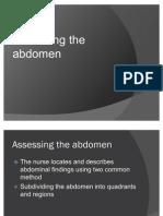 assessing abdomen