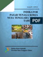 Indikator Pasar Tenaga Kerja Nusa Tenggara Timur 2015 2
