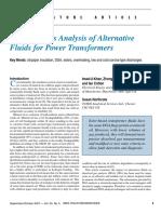 5.Dissolved Gas Analysis (DGA) of Alternative Fluids for Power Transformers