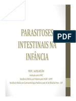' Aula Parasitoses Intestinais