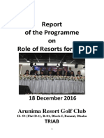 Report of the Programme on Role of Resorts for SDG