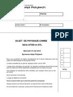 2013 Sujet Physique STI2D-STL