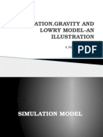 Simulation ,Gravity and Lowry Model