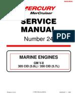 Mercruiser Service Manual GM V6 4.3 complete