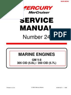 Mercruiser Service Manual GM V6 4 3 complete | Distributor