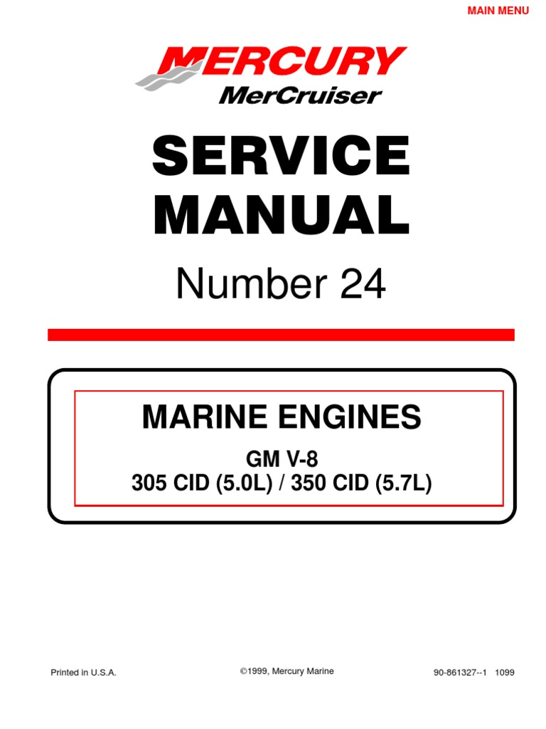 mercruiser service manual gm v6 4 3 complete throttle fuel injection rh scribd com 350 Mercruiser Engine 305 Mercruiser Parts