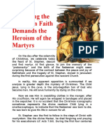 Professing the Christian Faith Demands the Heroism of the Martyrs