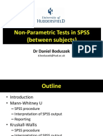 Nonparametric Tests Between Subjects SPSS
