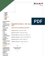 Hyperbolic Functions_