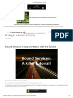 Android Bound Service Tutorial