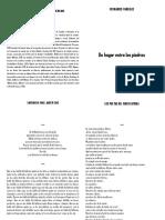 Fernando Vanegas - Un hogar entre las piedras - Colección de Poesía Naciente Venezolana - Los Poetas Del Cinco Editora