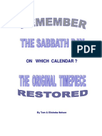 Remember the Sabbath Day on Which Calendar