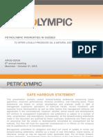 Présentation de Petrolympic (Anglais)