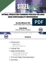 Optimum Trimming Process for AHSS - Edge Stretchability Improvement
