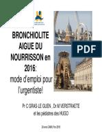 Bronchiolite 2016