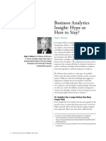 5. Business Analytics - Hype or Here to Stay (Watson, 2011)
