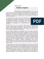 Requisa de Telmex Septiembre de 1984