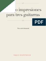 Cuatro Impresiones Para Tres Guitarras