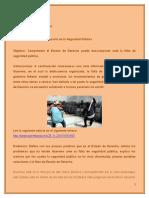 Estado de Derecho y Su Impacto en La Seguridad Pública.