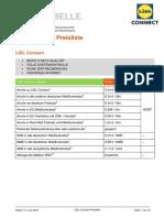 LIDL Connect Preistabelle