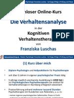 HeilpraktikerErfolg Freier Onlinekurs Verhaltensanalyse Teil 1 Verhaltenstherapie Luschas 1115 SEC