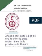Analisis Ecotoxicologico de Un Pozo de Agua