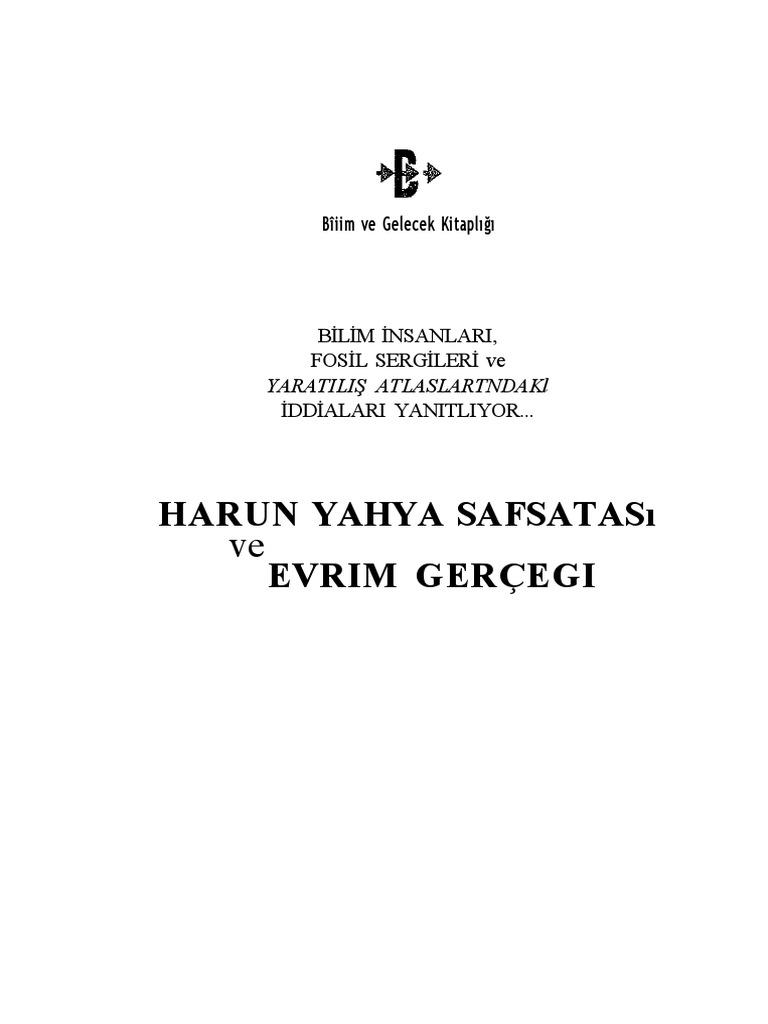 Harun Yahya Safsatasi Ve Evrim Gerei