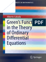 (SpringerBriefs in Mathematics) Alberto Cabada (Auth.)-Green's Functions in the Theory of Ordinary Differential Equations-Springer-Verlag New York (2014)