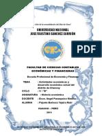 actividades economicas y desarrollo economico actual del distrito de chancay