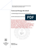 Universal Design Revisited. A Methodological Extension for Sustainability