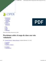 CIPER Precisiones Voto Voluntario